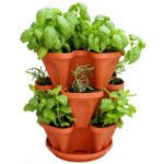 3 tier 12 plant site vertical herb garden