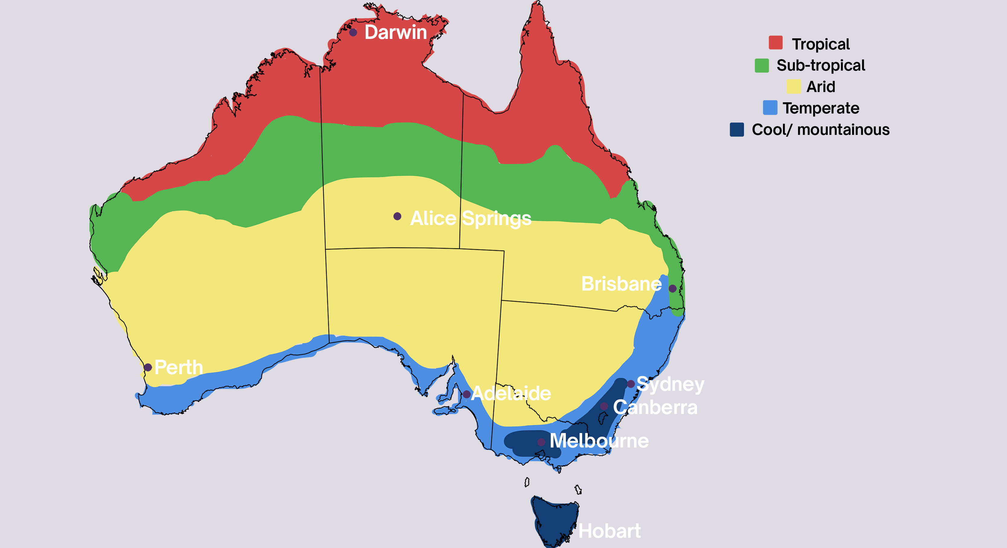 australia-climate zone map for growing seasons